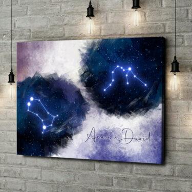 Leinwandbild personalisiert Zeichen des Himmels