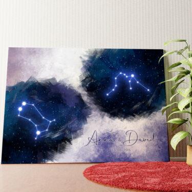 Personalisiertes Wandbild Zeichen des Himmels