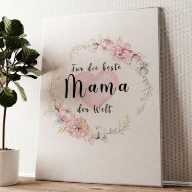 Zum Muttertag Wandbild personalisiert