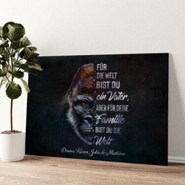 Gorillavater Wandbild personalisiert