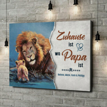 Leinwandbild personalisiert Mein Papa - Mein Zuhause