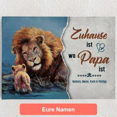 Personalisiertes Leinwandbild Mein Papa - Mein Zuhause