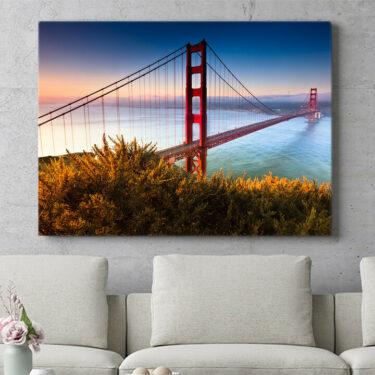 Personalisierbares Geschenk San Francisco Golden Gate Bridge