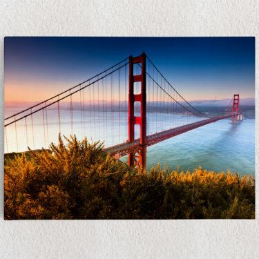 Personalisiertes Leinwandbild San Francisco Golden Gate Bridge