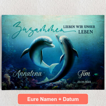 Personalisiertes Leinwandbild Ozean aus Liebe