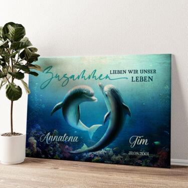 Ozean aus Liebe Wandbild personalisiert