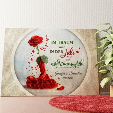 Personalisiertes Wandbild Rose für zwei