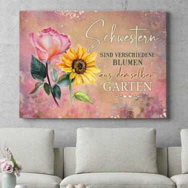 Personalisierbares Geschenk Blumenschwestern