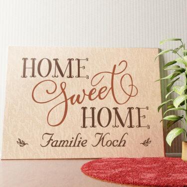 Personalisiertes Wandbild Home Sweet Home