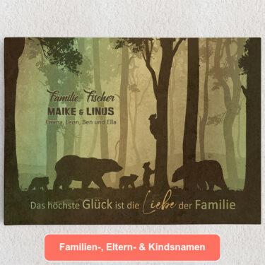 Personalisiertes Leinwandbild Liebe einer Familie
