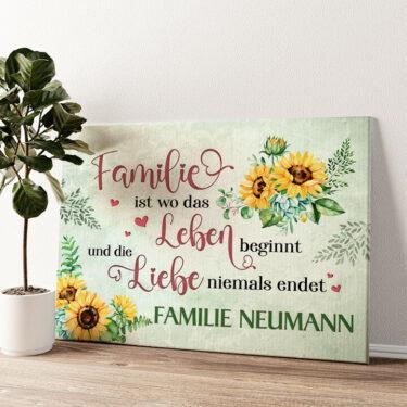 Liebe & Leben Wandbild personalisiert