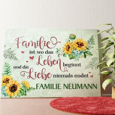 Personalisiertes Wandbild Liebe & Leben