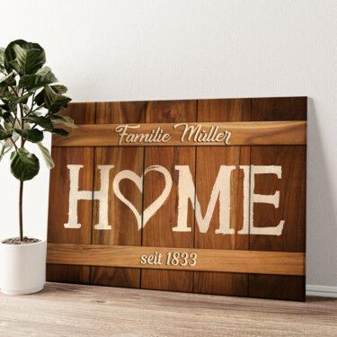 Unser Zuhause Wandbild personalisiert